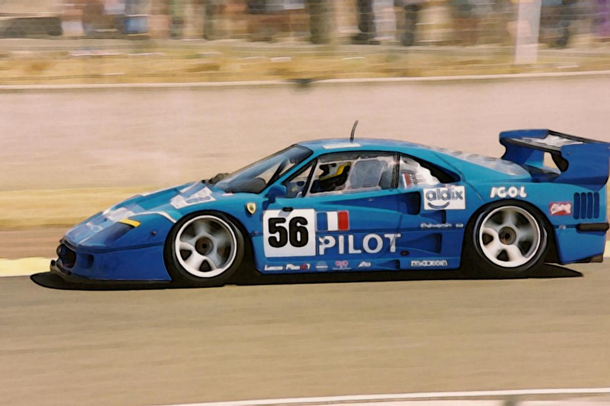 Ferrari F40 24h Le Mans 1996 Pilot 1 18 Looksmart Models
