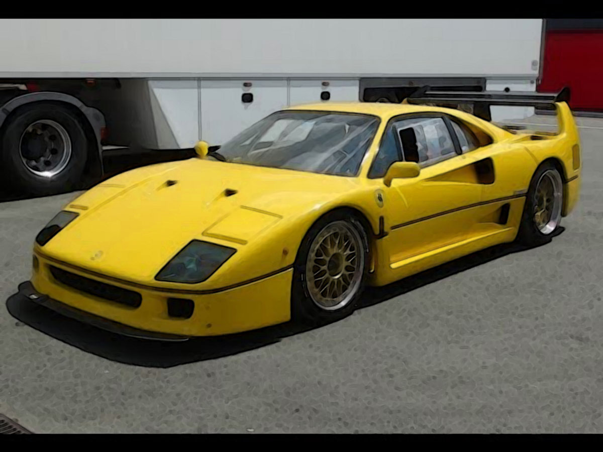 ferrari f40 lm yellow 1 18 looksmart models. Black Bedroom Furniture Sets. Home Design Ideas