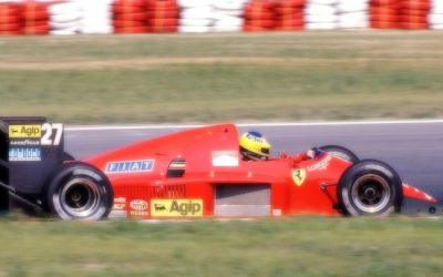 Ferrari F1-86 Austria GP 1986 M. Alboreto 2nd Place scale 1:18