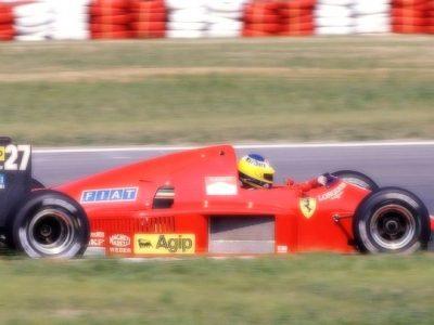 Ferrari F1-86 Austria GP 1986 M. Alboreto 2nd Place scale 1:18