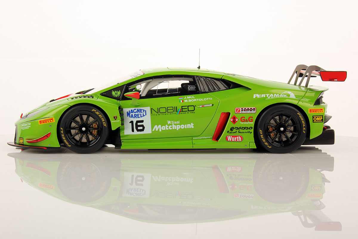 lamborghini hurac n gt3 team imperiale 1 18 looksmart models. Black Bedroom Furniture Sets. Home Design Ideas