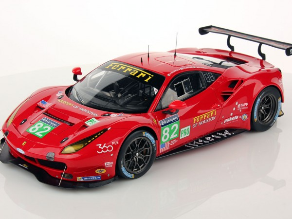 Ferrari 488 GTE Le Mans Series 2016 #82 1:18