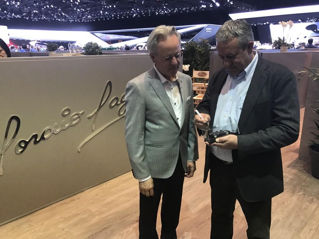 Egidio Reali with Horacio Pagani, Automobili Pagani CEO and founder.