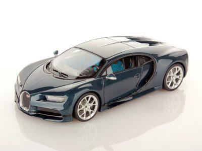 Bugatti Chiron Blue Carbon 1:43