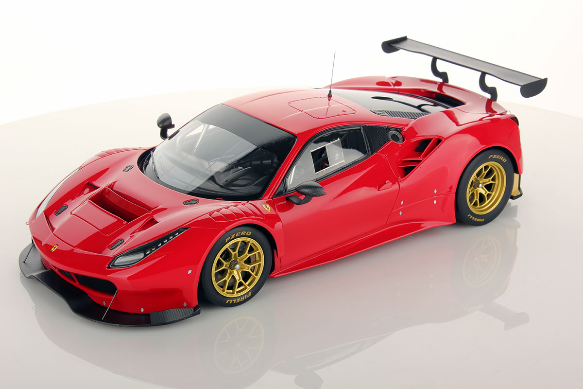 ferrari 488 gt3 red 1 18 looksmart models. Black Bedroom Furniture Sets. Home Design Ideas