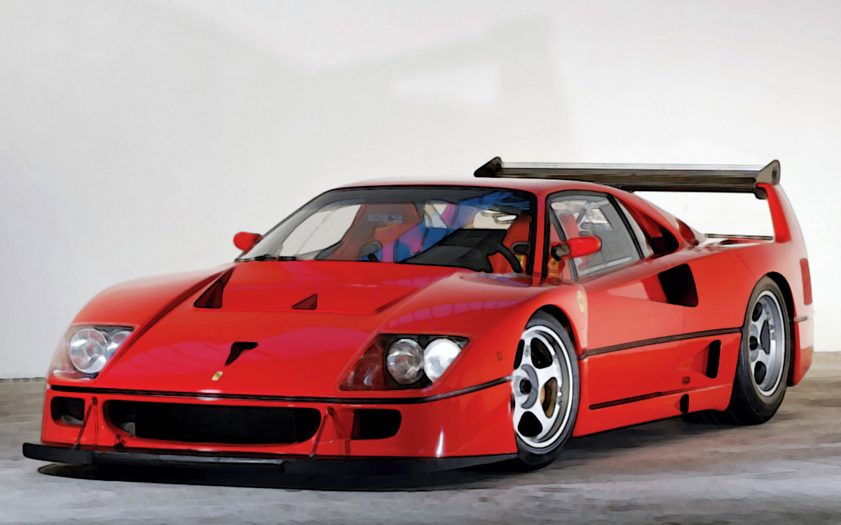 ferrari f40 lm red 1 18 looksmart models. Black Bedroom Furniture Sets. Home Design Ideas