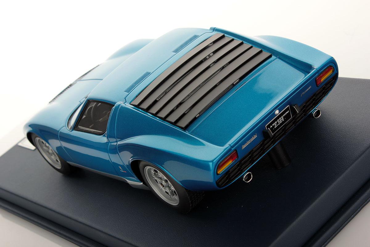 Lamborghini Miura P400 Blue Tahiti 1 18 Looksmart Models