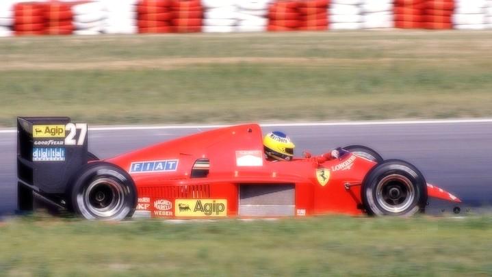 Ferrari F1 86 Austria Gp 1986 M Alboreto 2nd Place Scale 1 18 Looksmart Models