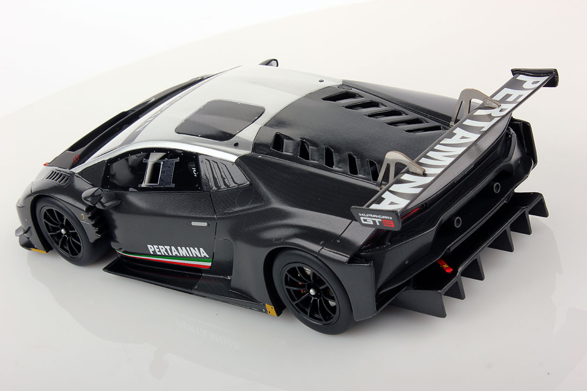 lamborghini hurac n gt3 carbonium with silver roof 1 18 looksmart models. Black Bedroom Furniture Sets. Home Design Ideas