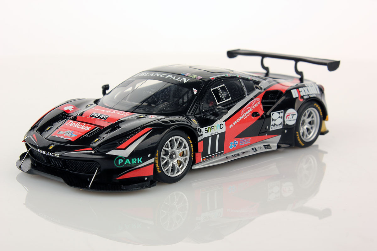ferrari 488 gt3 spa 2016 11 kessel racing 1 43 looksmart models. Black Bedroom Furniture Sets. Home Design Ideas