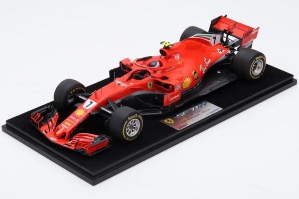 Ferrari SF71h Kimi Raikkonen winner Austin 2018 USA GP 1:18