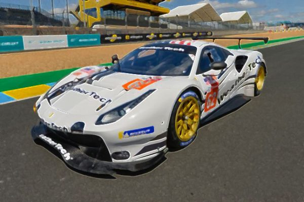Ferrari 488 GTE No.62 WeatherTech Racing Scale 1:43